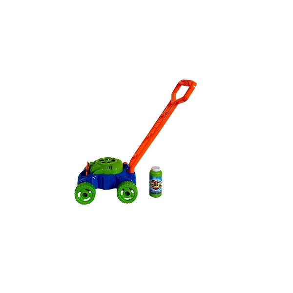 Masina-tuns-iarba-cu-baloane-sapun