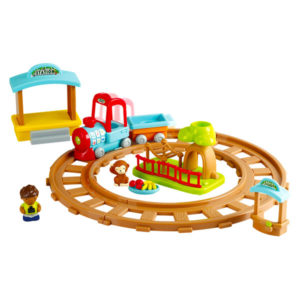 Set-trenulet-interactiv-ZOO-Ride-12-piese-Playgo